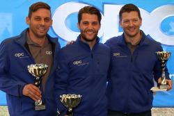 Christian Zimmermann, Thierry Kilchenmann, Marcel Muzzarelli, podium Course 1