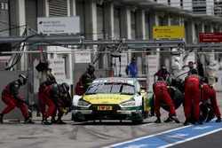 Pit stop, Mike Rockenfeller, Audi Sport Team Phoenix, Audi RS 5 DTM