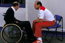 Frank Williams, Williams Team Owner with Ron Dennis, McLaren Team Owner