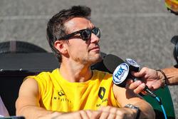 Jolyon Palmer, Renault Sport F1 Team lors de la parade des pilotes