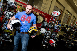 Chad From Bell Helmets shows off the Custom 500 3/4 Retro and Revolver Evo Modular Helmets