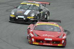 #11 AF Corse Ferrari 458 Italia GT3: Alexander Talkanitsa Sr., Alexander Talkanitsa Jr., Pasin Latho