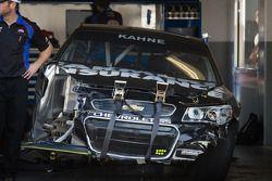 La voiture accidentée de Kasey Kahne, Hendrick Motorsports Chevrolet