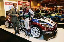Malcolm Wilson, Qatar M-Sport World Rally Team Principal and Mads Ostberg, Qatar M-Sport World Rally Team unveil the M-Sport Ford Fiesta RS
