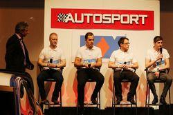 Jason Plato, met Stefan Hodgetts; Luke Herbert; Rob Boston en Sam Tordoff op de Autosport Stage