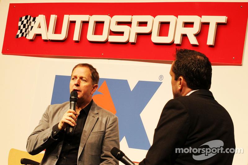 Martin Brundle, Sky Sports Commentator on the Autosport Stage