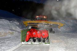 Ducati motos se entregan en la nieve