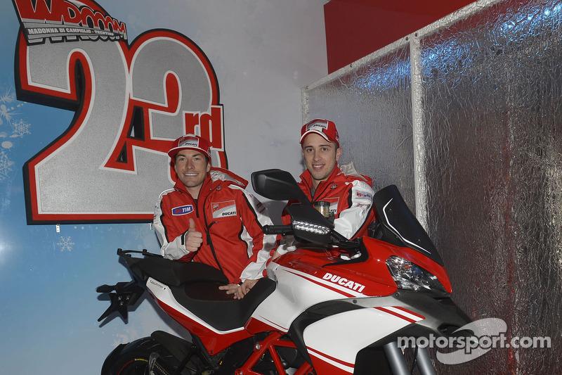 Andrea Dovizioso en Nicky Hayden, Ducati Marlboro Team