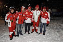 Andrea Dovizioso and Nicky Hayden, Ducati Marlboro Team, Fernando Alonso and Felipe Massa, Scuderia