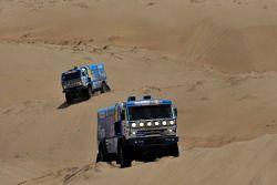 Camiones de Kamaz en acción