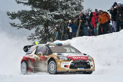 Mikko Hirvonen et Jarmo Lehtinen, Citroën DS3 WRC, Citroën Total Abu Dhabi World Rally Team