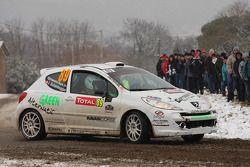 Jonathan Scheidegger en Nadia Giannuzzo, Peugeot 207