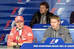 Michael Schumacher, Mika Hakkinen, Norbert Haug