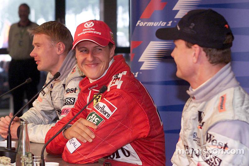 Conferencia de prensa de la FIA: Michael Schumacher, Mika Hakkinen, David Coulthard