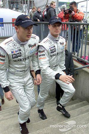 Mika Hakkinen y David Coulthard