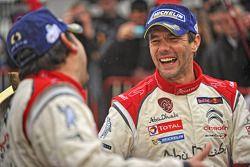 Podium: winners Sébastien Loeb and Daniel Elena, Citroën Total Abu Dhabi World Rally Team
