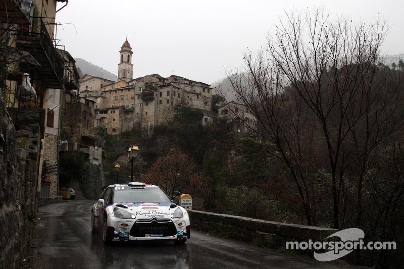Bryan Bouffier y Xavier Panseri, Citroen DS3 WRC, Montecarlo 2013: 5º