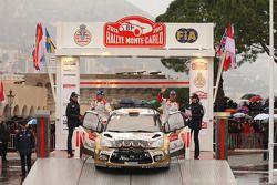 Podium: third place Daniel Sordo and Carlos del Barrio, Citroën Total Abu Dhabi World Rally Team