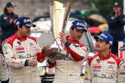 Podium: Sébastien Loeb et Daniel Elena, Citroën Total Abu Dhabi World Rally Team