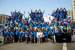 The Kamaz team celebrates