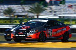#76 Compass360 Racing Honda Civic SI: Adam Burrows, Ray Mason