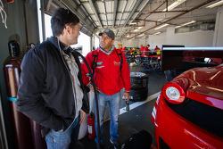 Giancarlo Fisichella e Rui Aguas