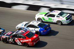 #82 BimmerWorld Racing BMW 328i: Daniel Rogers, Seth Thomas, #38 BGB Motorsports Porsche Carrera: Ji