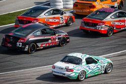 #25 Freedom Autosport Mazda MX-5: Tom Long, Derek Whitis gets loose