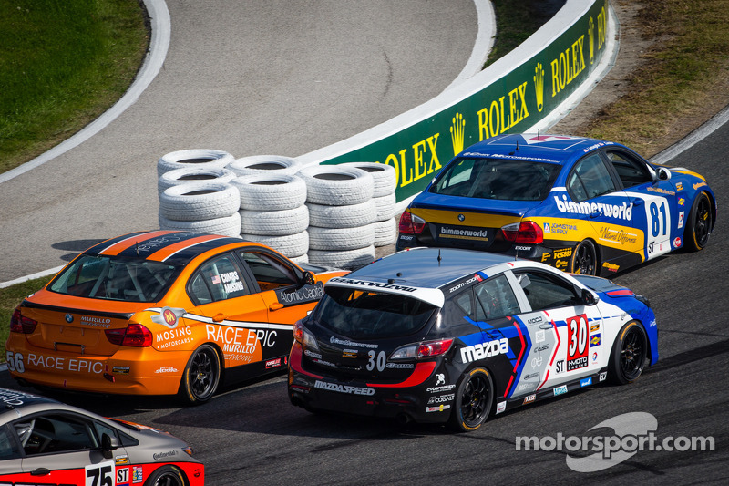 #56 RACE EPIC/ Murillo Racing BMW 328i: Jesse Combs, Jeff Mosing, #30 i-MOTO Mazda Speed 3: Ryan Ell