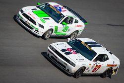 #87 Vehicle Technologies Dodge Challenger: Tony Ave, Jan Heylen, Doug Peterson, Moses Smith, #49 Rou