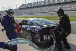 Pit stop #158 Dempsey Racing Mustang Boss 302R: Ian James, Roger Miller