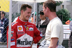 Michael Schumacher et David Coulthard