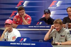 Michael Schumacher, Ross Brawn, Giancarlo Fisichella, Mika Häkkinen, Gerhard Berger