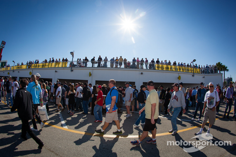 Fans in the garage area