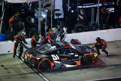 Pitstop voor #51 Audi Sport Customer Racing/APR Motorsport Audi R8 Grand-Am: Matt Bell, John Farano,