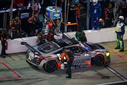 PIt stop for #52 Audi Sport Customer Racing/APR Motorsport Audi R8 Grand-Am: Frank Stippler, Marc Ba