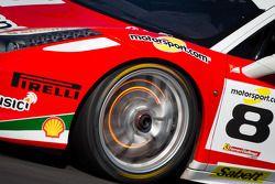 Disco incandescente de freio no #8 Ferrari de Fort Lauderdale Ferrari 458