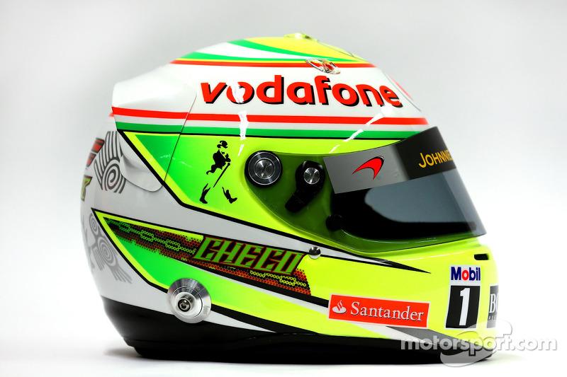 Casco de Sergio Pérez, McLaren, 2013