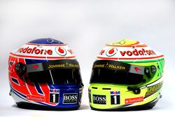 The, kasks, Jenson Button, McLaren ve Sergio Perez, McLaren