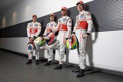 McLaren pilotu s Gary Paffett, Sergio Perez, Jenson Button ve Oliver Turvey
