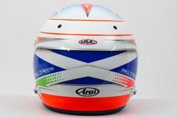 El casco de Paul di Resta, del Sahara Force India F1 Team