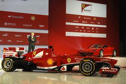 Luca di Montezemolo mit dem Ferrari F138