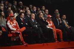 Fernando Alonso, Luca di Montezemolo und Felipe Massa