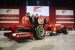 Felipe Massa, Sergio Marchionne, Luca di Montezemolo, John Elkann, Fernando Alonso and Stefano Domen
