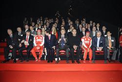 Piero Ferrari, Felipe Massa, Luca di Montezemolo, Fernando Alonso und Stefano Domenicali