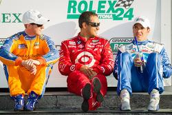 Vencedores na DP: Charlie Kimball, Juan Pablo Montoya e Memo Rojas