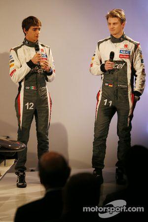 Esteban Gutierrez mit Nico Hülkenberg