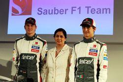 Nico Hülkenberg, Monisha Kaltenborn, Esteban Gutierrez