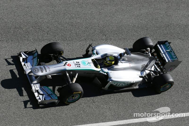 Нико Росберг. Презентация Mercedes AMG W04, Тестовый СУ.