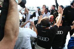 Audi Sport Customer Racing/Alex Job Racing team comemora the GT win